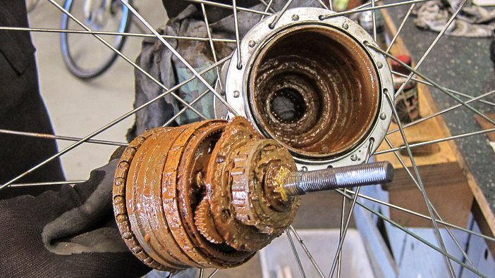 Filthy internal gear hub
