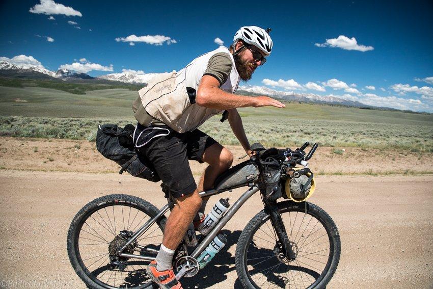 Gareth High plains drifing on the Tour Divide